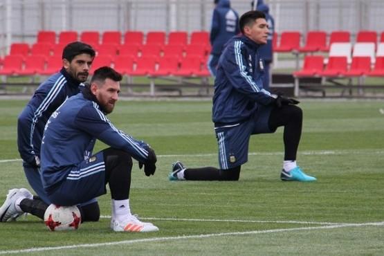 Messi ya entrena en Moscú