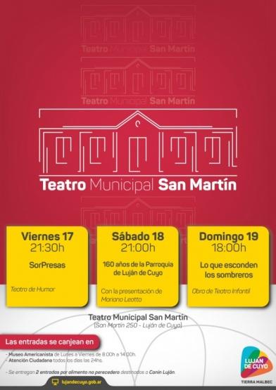 Agenda del Teatro San Martín para este fin de semana