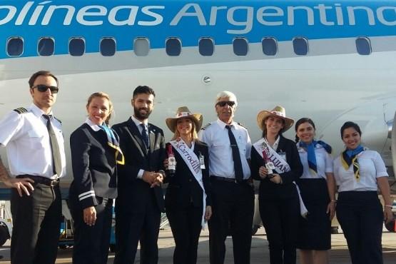 Luján de Cuyo desarrolla con éxito el convenio con Aerolíneas Argentinas