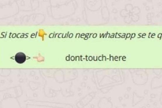 El misterioso círculo negro de WhatsApp