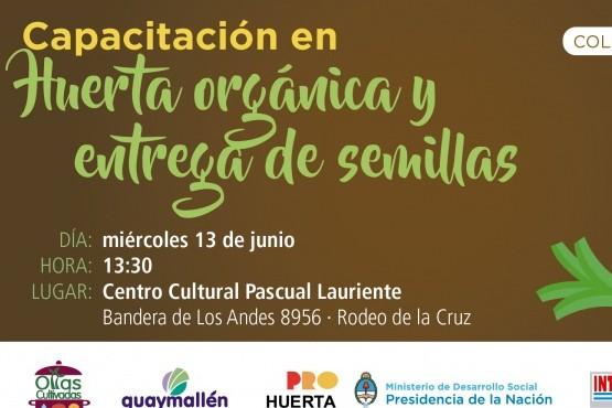 Capacitación gratuita en huerta orgánica en Rodeo de la Cruz