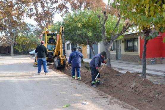 Obras de drenaje y cloacas para un sector de Capilla del Rosario