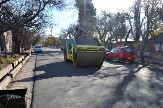 Asfalto nuevo para una calle clave del distrito Belgrano