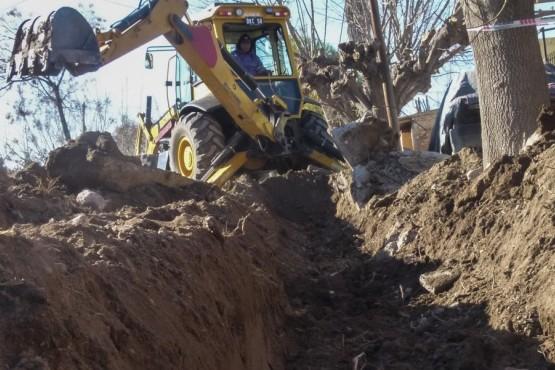 Las obras de drenajes llegaron al Loteo Di Benedetto