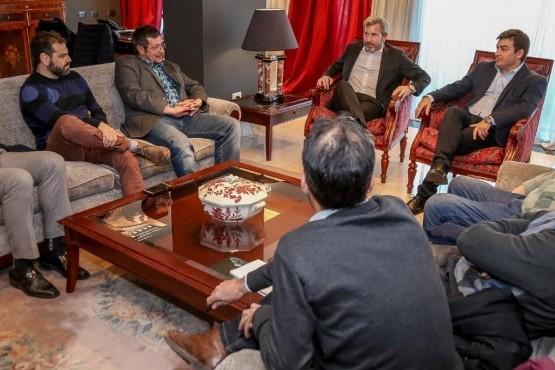 Frigerio y De Marchi, mano a mano con periodistas de Mendoza