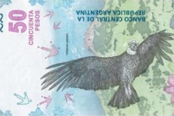 Nuevo billete con imágenes del cóndor y la montaña