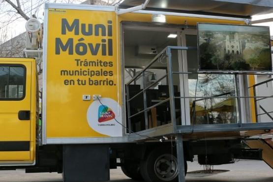 Recorrido del MuniMóvil en Luján de Cuyo