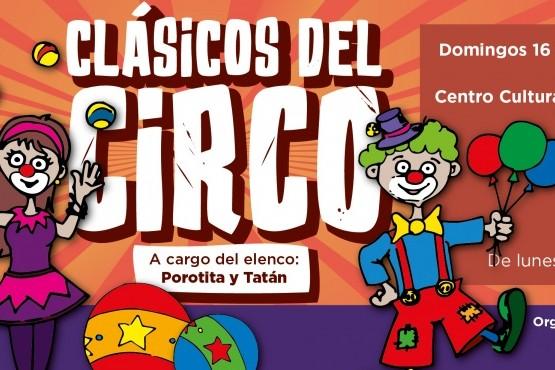 """""""Clásicos del circo"""" gratis en el Centro Cultural Pascual Lauriente"""