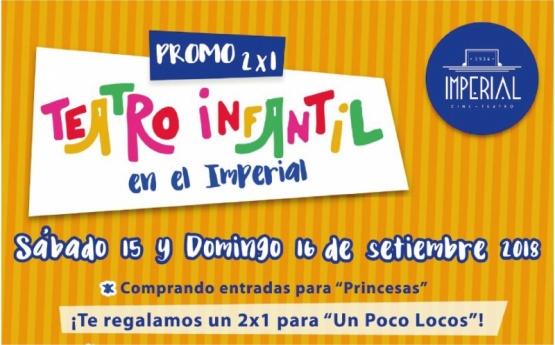 2X1 Teatro infantil en el Imperial