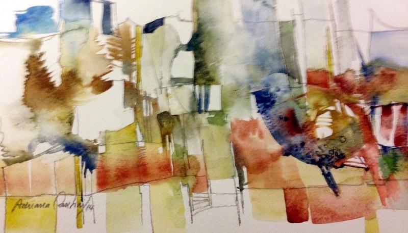 Obras de Adriana Cantini en el Centro Cultural P. Lauriente