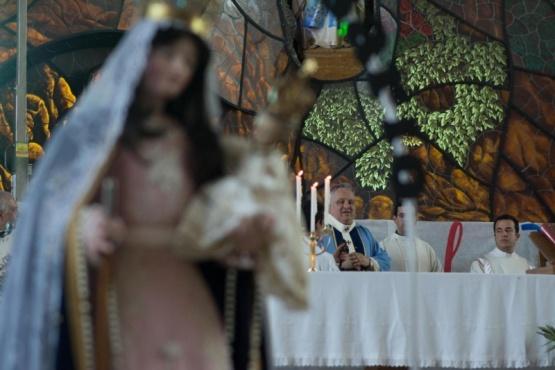 Fiesta Diocesana: gozo y cantos marianos cerca de las montañas.
