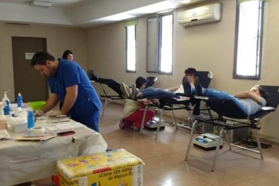 Fomentaron la donación de sangre en los estudiantes