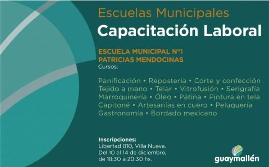ESCUELAS MUNICIPALES: CAPACITACIÓN LABORAL