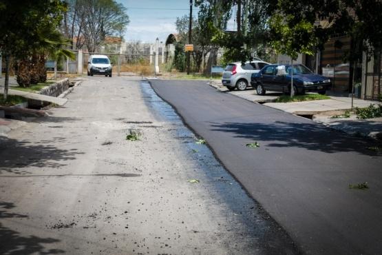 Pavimento nuevo en las calles del barrio SPUNC