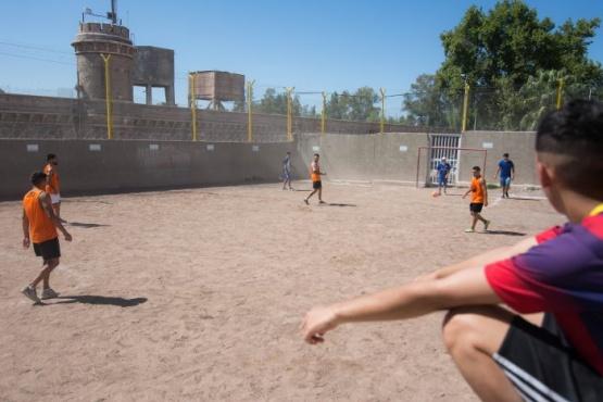 Internos del penal hicieron fútbol para fomentar la resociabilización
