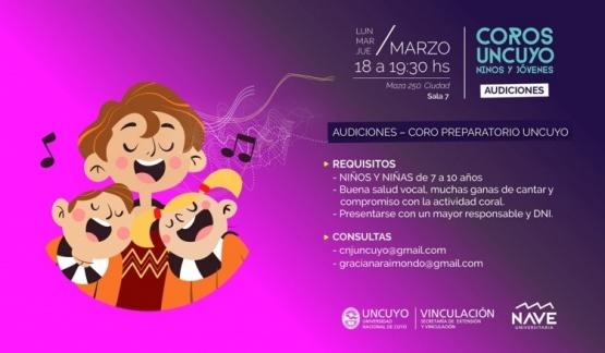Coros UNCuyo, niños y jóvenes