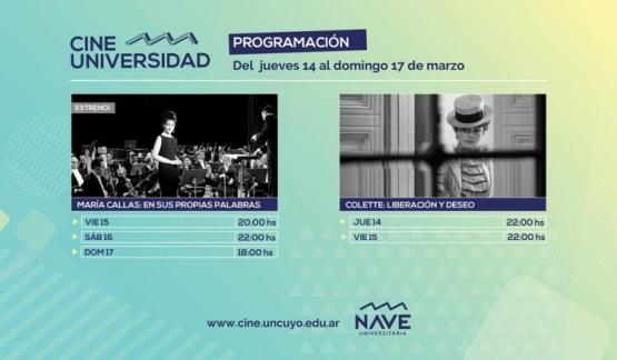Cine Universidad - Programación