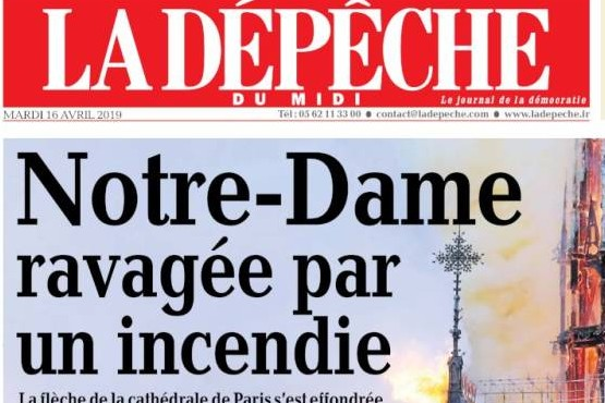 Notre Dame en portadas de diarios del mundo