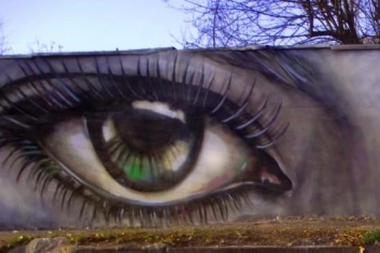 Mural apoyando la lucha contra la violencia de género