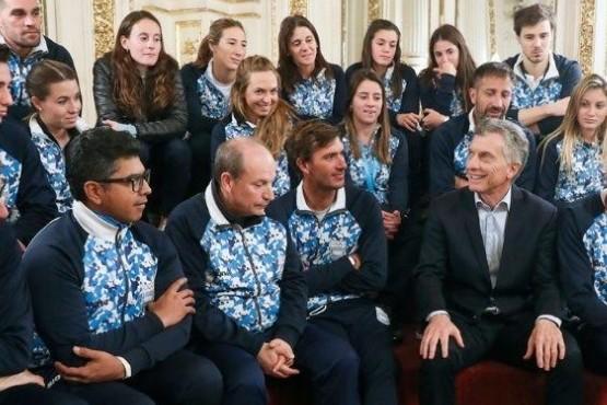 Macri recibió a los atletas Panamericanos
