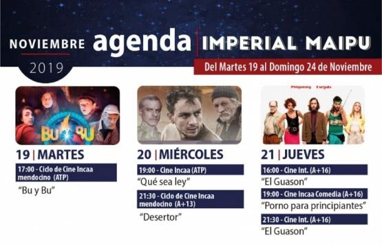 Cartelera para esta semana del Teatro Cine Imperial