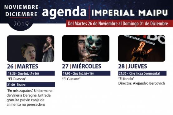 ¡Ya llegó la nueva catelera del Cine Teatro Imperial!