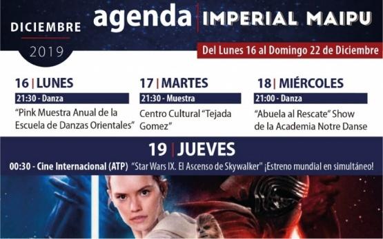 Imperdible cartelera del Cine Teatro Imperial