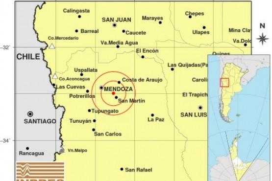 Fuerte sismo en Mendoza grado 4.8