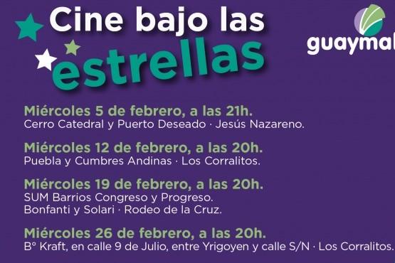 """En febrero continúa """"Cine bajo las estrellas"""""""