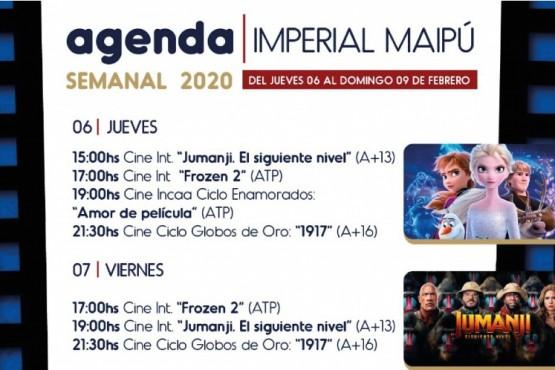 ¡Bienvenido 2020! - Agenda semanal del Cine Imperial Maipú