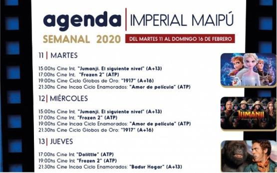 Cartelera semanal del Cine Teatro Imperial