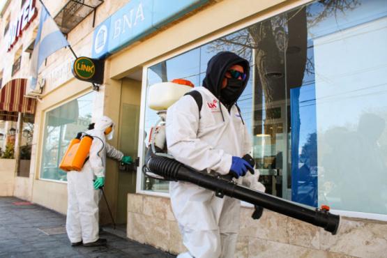 Continúan las desinfecciones en Uspallata