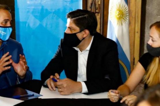 Trotta arrancó su agenda en Maipú