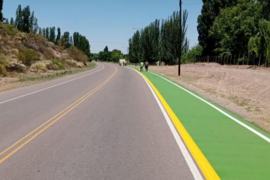Luján de Cuyo concluyó más de 10 mil metros de extensiones y mejoras en ciclovías