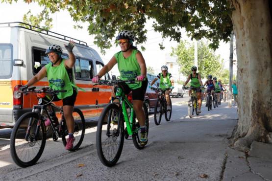 Maipú en bici para concientizar sobre la eficiencia energética